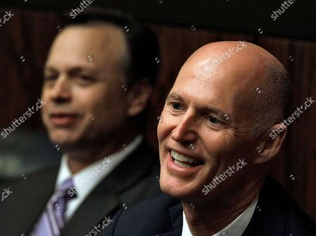 Rick Scott, Tom Lee Florida Gov. Rick Scott, right, shares a laugh with former Florida Senate President Tom Lee as they watch the opening session of the 2011 Florida legislature in Tallahassee, Fla
