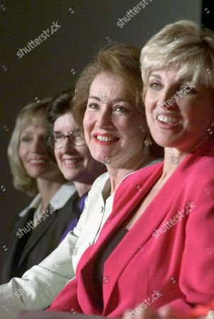 BLACK Elizabeth Dole poses with other honorees at a luncheon in Philadelphia . From left are: Michele Darling, executive vice-president of Prudential; Rep. Tilly Fowler, R-Fla.; Dole, and Carole Black, president and CEO, Lifetime: Television for Women. The affair, coinciding with the Republican National Convention, saluted the women's achievements