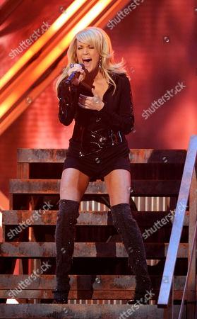 Carrie Underwood Carrie Underwood performs at the 50th Annual Grammy Awards, in Los Angeles