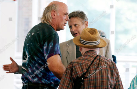 Stock Photo of Gary Johnson, Jesse Ventura Gary Johnson, the Libertarian Party candidate for president, center, greets former Minnesota Gov. Jessie Ventura, left, at Macalester College in St. Paul, Minn., after Ventura spoke. Johnson, a former two-term New Mexico governor who addressed students and members of the public, is on a nationwide college tour as part of his campaign