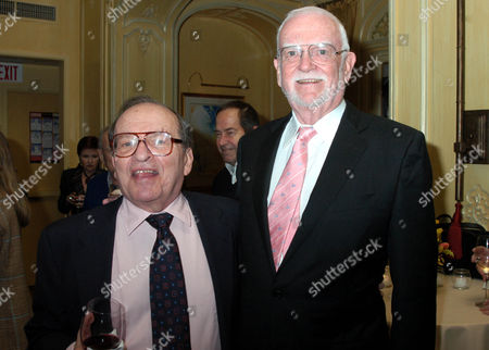 """Stock Photo of Director Sydney Lumet (L) and Academy President Frank Pierson (R) at the at the Hotel Plaza Athenee in New York for a party on to celebrate Lumets honorary Academy Award. The Oscar will be presented to Lumet, director of film classics such as """"Network,"""" """"Dog Day Afternoon"""" and """"Serpico"""" at the 77th Annual Academy Awards on February 27, 2005 in Los Angeles"""