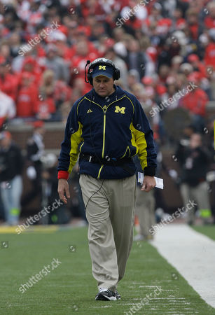 Rich Rodriguez Michigan head football coach Rich Rodriguez walking the sideline against Ohio State in the second quarter of an NCAA football game in Ann Arbor, Mich. Rodriguez concedes he is nervous about this weekend's hearing with the NCAA. On, Rodriguez will join university president Mary Sue Coleman and athletic director Dave Brandon in Seattle for the meeting with NCAA officials