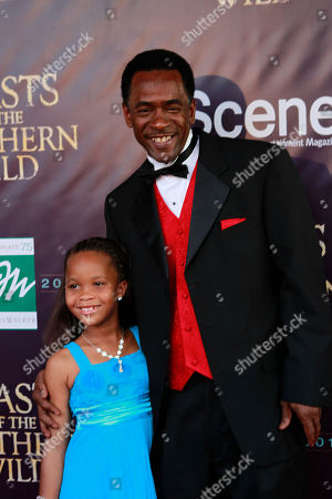 Quvenzhané Wallis, Dwight Henry Actress Quvenzhané Wallis and actor Dwight Henry, first time actors who play the starring roles in the movie 'Beasts Of The Southern Wild,' pose for photos on the red carpet at the premiere of the movie at the Joy Theater in New Orleans
