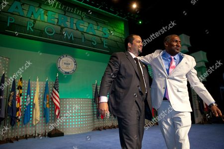 Benjamin Jealous, Willis Edwards Benjamin Jealous, President and CEO of National Association for the Advancement of Colored People, left, and Willis Edwards, NAACP board member,address the 102nd Annual Convention in Los Angeles