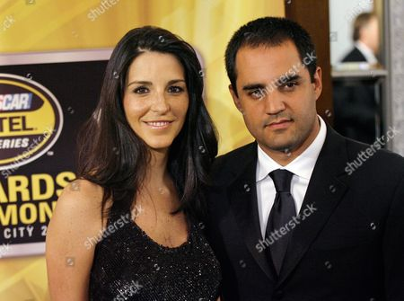 Juan Pablo Montoya; Connie Montoya Juan Pablo Montoya, of Colombia, and his wife, Connie, arrive for the NASCAR Nextel Cup auto racing series' awards ceremony in New York