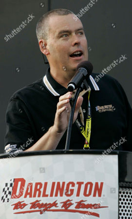 Chris Browning Chirs Browning, president of Darlington International Raceway, welcomes the race fans during driver introductions before the start of the NASCAR Dodge Challenger 500 Sprint Cup series auto race at the Darlington International Raceway, in Darlington, S.C