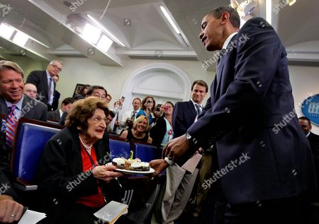 Helen Thomas, Barack Obama President Barack Obama, marking his 48th birthday today, takes a break from his official duties to bring birthday greetings to veteran White House reporter Helen Thomas, left, who shares the same birthday and turns 89, at the White House Press Briefing Room, in Washington, . Helen Thomas has covered every president since John F. Kennedy