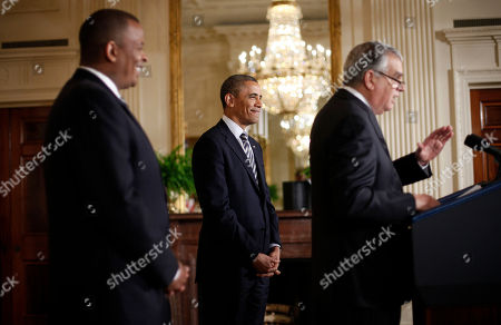 Barack Obama, Anthony Foxx, Ray LaHood President Barack Obama, center, and his nominee for Transportation Secretary, Charlotte, N.C. Mayor Anthony Foxx, left, listen as outgoing Transportation Secretary Ray LaHood, right, speaks in the East Room of the White House in Washington, where the president announced he would nominate Foxx to succeed LaHood