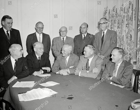 Strand Kerr Theophilus Allen The President's Council of the PCC is shown meeting in San Francisco, . Shown seated from left: Pres. C. Clement French, Washington State; Pres. Robert Gordon Sproul, University of California; Pres. Henty Schmitz, University of Washington; Pres. Fred D. Fagg, Jr. University of Southern California; and Pres O. Meredith Wilson, University of Oregon. Standing from left: Pres. J. Wallace Sterling, Stanford; Chancellor Raymond B. Allen, UCLA; Pres. R.D. Theophilus, Idaho; Chancellor Clark Kerr, University of California; and Pres. A.L. Strand of Oregon State
