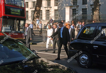 Editorial picture of Damon Hill visiting Downing Street to promote the International Motor Show, London, Britain - 18 Jul 2006