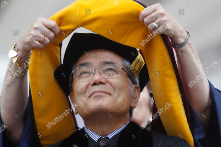 Ei-ichi Negishi Japanese scientist Ei-ichi Negishi and 2010 Nobel Prize in Chemistry recipient, receives a honorary degree at the University of Pennsylvania's 255th Commencement, in Philadelphia