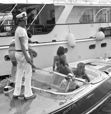 Editorial photo of RIKKY VON OPEL AND BIANCA JAGGER IN ST TROPEZ, FRANCE -  JUL 1976