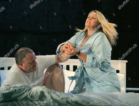 Stock Picture of 'Love Counts' - Andrew Slater ( Patsy ) and Helen Williams ( Avril )