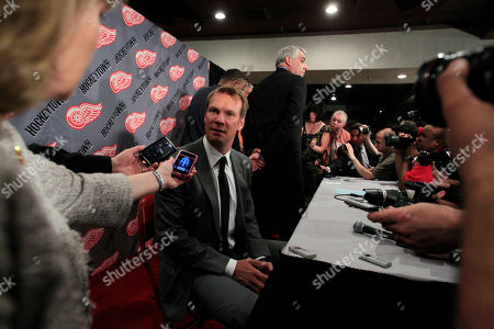 Nicklas Lidstrom Detroit Red Wings captain Nicklas Lidstrom of Sweden is interviewed after announcing his retirement during a news conference in Detroit, . Lidstrom retires after a 20-season career
