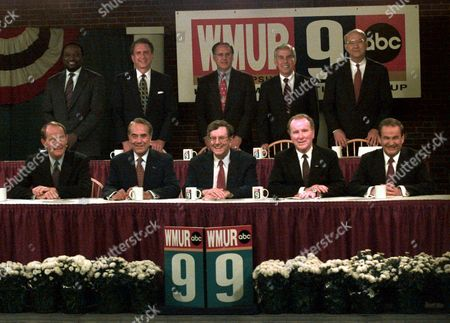 GRAMM Republican presidential hopefuls pose prior to a televised forum at the studio's of WMUR-TV 9 in Manchester, NH, Wednesday evening, . From front row left are Former Tenn. Gov. Lamar Alexander, Sen. Robert Dole (R-KS), Steve Forbes, Rep. Bob Dornan and Pat Buchanan. From rear row left are Alan Keyes, Sen. Arlen Specter (R-PA), Morrey Taylor, Sen. Richard Lugar (R-IN) and Sen. Phil Gramm (R-Texas