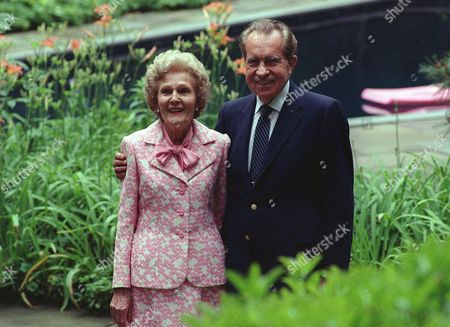 RICHARD PATRICIA NIXON Former U.S. President Richard Nixon and his wife Patricia are shown on their 50th wedding anniversary June 22,1990 at their Saddle River, N.J. home