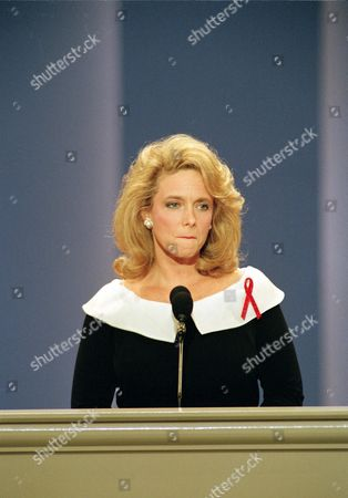 Fisher Mary Fisher, who is HIV positive and founder of the Family AIDS Network, pauses during her speech to the Republican National Convention at the Houston Astrodome in Houston, Texas, Wednesday night, . Although protesters at the convention have accused President Bush of being unsympathetic to AIDS victims, Fisher praised the president for his compassion