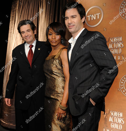 Alan Rosenberg, Angela Bassett, Eric McCormack Screen Actors Guild President Alan Rosenberg, left, poses with actors Angela Bassett and Eric McCormack after they announced the nominations for the 15th Annual Screen Actors Guild Awards, in West Hollywood, Calif. The Screen Actors Guild Awards will be held in Los Angeles on January 25, 2009