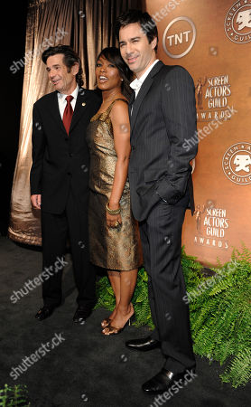 Angela Bassett, Eric McCormack, Alan Rosenberg Screen Actors Guild President Alan Rosenberg, left, poses with actors Angela Bassett and Eric McCormack after they announced the nominations for the 15th Annual Screen Actors Guild Awards, in West Hollywood, Calif. The Screen Actors Guild Awards will be held in Los Angeles on January 25, 2009