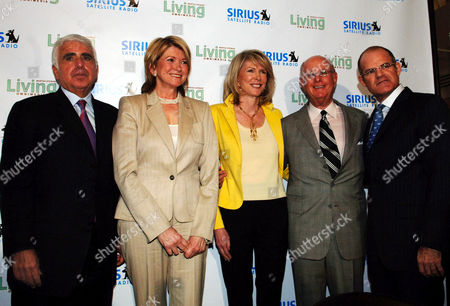 SIRIUS MAARTHA STEWART From left, Sirius Satellite Radio Inc. CEO Mel Karmazin, Martha Stewart, Susan Lyne President and CEO of Martha Stewart Living Omnemedia, Charles Koppelman Vice Chairman of Martha Stewart Living Omnemedia and Scott Greenstein President of entertainment and sports at Sirius pose for photographers at the Sirius Satellite Radio offices, in New York. Martha Stewart Living Omnimedia and Sirius Satellite Radio announced today an exclusive four year deal to create a Martha Stewart channel providiing original programming for women listeners and their families