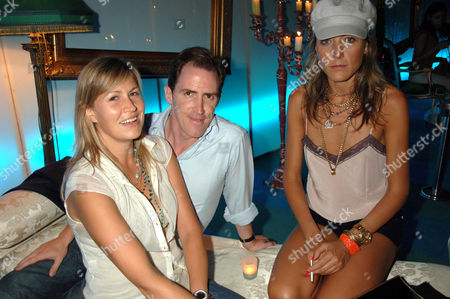Rob Brydon and wife Clare Holland with Dixie Chassay