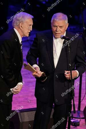 Tom T. Hall, Ralph Emery Tom T. Hall, right, accepts the poet's award from Ralph Emery during the Academy of Country Music Honors show, in Nashville, Tenn