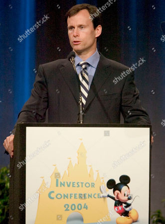 TOM STAGGS Tom Staggs, Chief Financial Officer of The Walt Disney World Company goes over the earnings report for the quarter ended December, 31, 2003 with investors and analysts on at the Walt Disney World Investors Conference 2004 at the Walt Disney World Resort in Lake Buena Vista, Fla