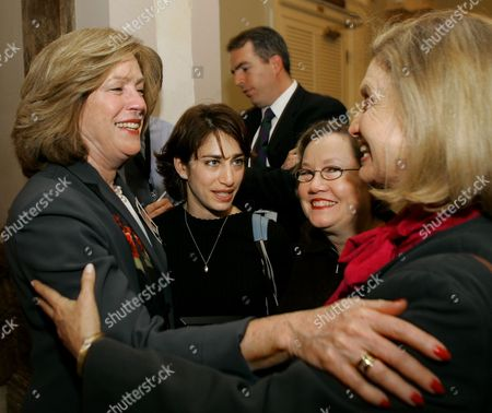 LEMACK Rep. Carolyn B. Maloney, D-N.Y., far right, is greeted by family member of victims of the Sept. 11 attacks, just after the House of Representatives voted to overhaul the nation's intelligence network, on Capitol Hill in Washington, . From left to right are: Mary Fetchet of New Canaan, Ct., lost her 24-year-old son Brad in the Sept. 11 attack on the World Trade Center, Carie Lemack, of Framingham, Mass., whose mother Judy Larocque died aboard American Airlines flight 11 when it crashed into the World Trade Center, Carol Ashley of Long Island, N.Y., whose 25-year-old daughter, Janice, died in the World Trade Center, and Rep. Carolyn B. Maloney, D-N.Y