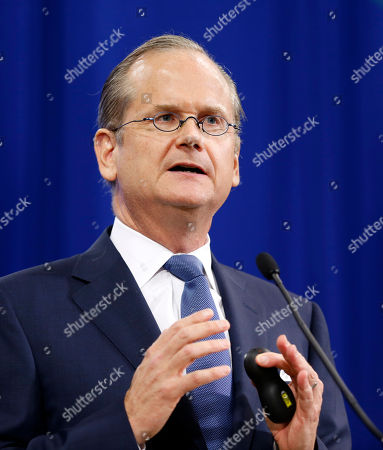 Democratic presidential candidate, Professor of Law at the Harvard Law School, Lawrence Lessig speaks at the New Hampshire Democratic Convention in Manchester, N.H