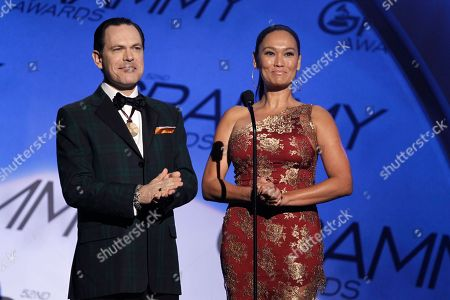 Kurt Elling, Tia Carrere Tia Carrere, right, and Kurt Elling are seen at the Grammy Awards, in Los Angeles