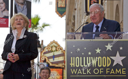 Jane Morgan, Jerry Weintraub American film producer Jerry Weintraub, right, praises his wife, singer Jane Morgan, as she is honored with a star on the Hollywood Walk of Fame in Los Angeles Friday, May, 6, 2011