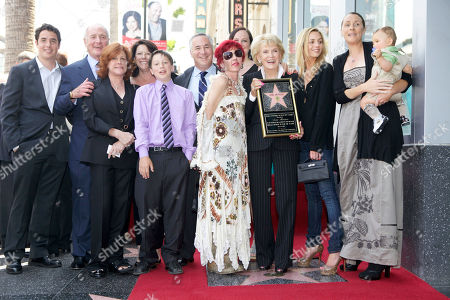 Jane Morgan Singer Jane Morgan, holding star third from right, and members of her extended family, is honored with a star on the Hollywood Walk of Fame in Los Angeles Friday, May, 6, 2011