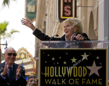 """Jane Morgan Singer Jane Morgan signs an a capella version of """"Fascination"""" as she is honored with a star on the Hollywood Walk of Fame in Los Angeles Friday, May, 6, 2011"""