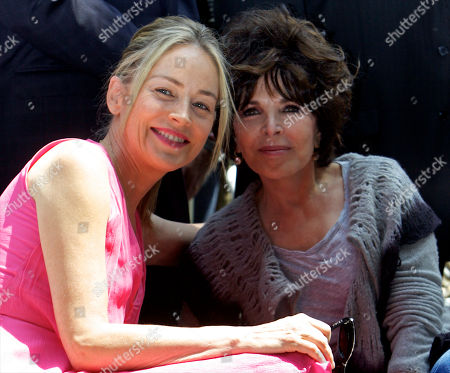 Sharon Stone, Carol Bayer Sager Actress Sharon Stone, left, and composer Carol Bayer Sager pose for photographers as they attend a ceremony honoring singer Jane Morgan, not seen, with a star on the Hollywood Walk of Fame in Los Angeles Friday, May, 6, 2011