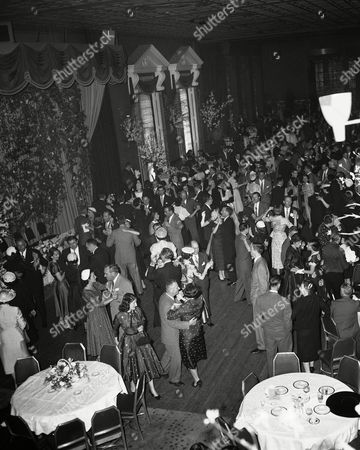 This is a general view of reception at Waldorf Astoria Hotel in New York, following wedding of Eunice Mary Kennedy, daughter of former Ambassador Joseph P. Kennedy, and Robert Sargent Shriver, Jr., of Chicago