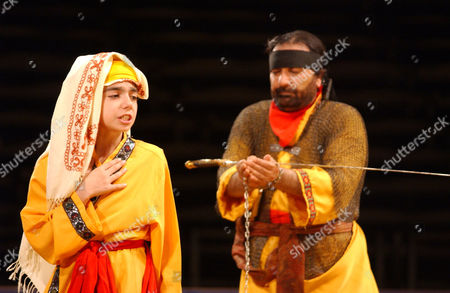 """Stock Photo of GHASSEMI GHASSEM Alaeaddin Ghassemi, right, and Mohammadreza Ghassem perform in the opening night of the Iranian musical """"Ta'ziyeh,"""" at the Lincoln Center for the Performing Arts, in New York. After many months of upheaval at Lincoln Center, the new president, Reynold Levy, vows to help raise $1 billion and cut every ribbon until the world's biggest arts complex is renovated in 10 years"""