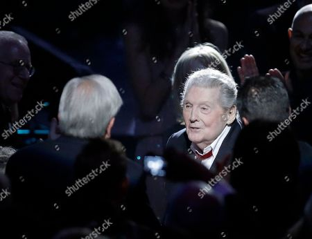 Jerry Lee Lewis Jerry Lee Lewis is shown at the Rock and Roll Hall of Fame Induction Ceremony, in Cleveland