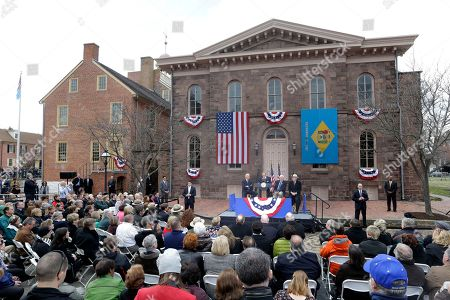 Joe Biden, Ken Salazar, Tom Carper, Donald Reese Sen. Tom Carper, D-Del. speaks during a ceremony in New Castle, Del. at First State National Monument, which was designated a national monument by President Barack Obama. The House takes up a bill aimed at limiting President Barack Obama's ability to designate new national monuments. Obama created five new monuments last year, using executive authority to protect historic or ecologically significant sites. Republicans say the bill would not block new monuments, but would require greater public participation in such decisions. Seated behind Carper are, from left, Vice President Joe Biden, New Castle, Del. Mayor Donald Reese and Interior Secretary Ken Salazar. The monument is the first step toward creating a national park in Delaware, the only state not included in the national park system