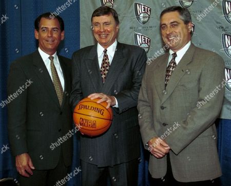 CASEY ROWE NASH New Jersey Nets head coach Don Casey, center, poses with Nets President and COO Michael Rowe, left, and Nets General Manager John Nash, at the Nets practice facility in East Rutherford, N.J. Casey, who was named interim head coach on March 15, 1999, and compiled a 13-17 mark in the season's final 30 games, was signed to a multi-year contract to become the new head coach of the Nets