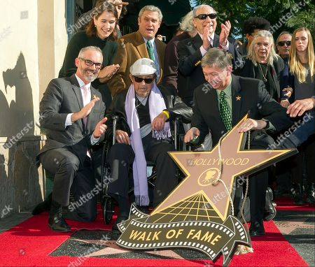 Mitch O'Farrell, Heather Cochran, David Green, Paul Mazursky, Mel Brooks, Leron Gubler, Betsy Mazursky Actor director Paul Mazursky, middle, is surrounded from left to right: Los Angeles City Council member Mitch O'Farrell, Chair of the Hollywood Chamber of Commerce Heather Cochran, Chair of the Walk of Fame David Green, director Paul Mazursky, in wheel chair, director Mel Brooks and Hollywood Chamber of Commerce president/CEO Leron Gubler, and Betsy Mazursky, during the ceremony honoring Mazursky with a star on the Hollywood Walk of Fame in Los Angeles