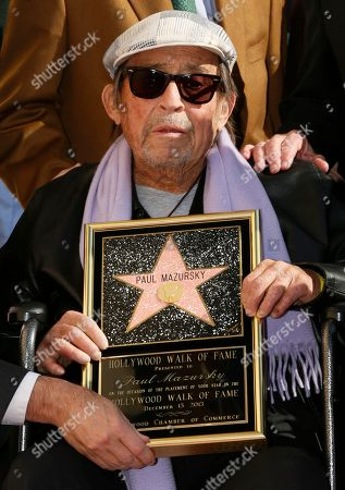 Paul Mazursky Actor director Paul Mazursky is honored with a star on the Hollywood Walk of Fame in Los Angeles