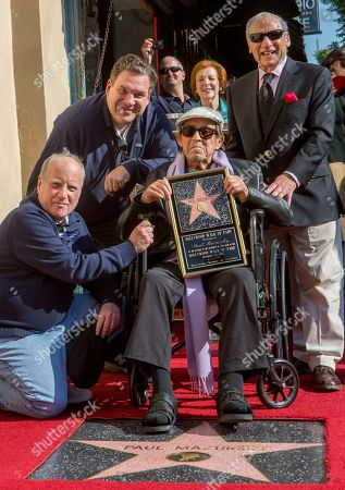 Richard Dreyfuss, Jeff Garlin, Paul Mazursky, Mel Brooks Actors Richard Dreyfuss, left, and Jeff Garlin, join directors Paul Mazursky, middle and Mel Brooks, right as they attend a ceremony honoring Mazursky with a star on the Hollywood Walk of Fame in Los Angeles