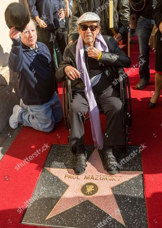 Richard Dreyfuss, Paul Mazursky Actor Richard Dreyfuss, left, takes his hat of as actor/director Paul Mazursky is honored with a star on the Hollywood Walk of Fame in Los Angeles