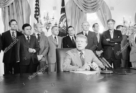 Editorial image of President Jimmy Carter Speaking, Washington, USA