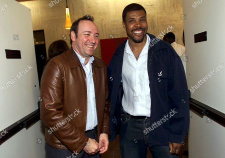 SPACEY LASALLE Screen Actors Guild members actor Kevin Spacey left, and ER actor Eriq LaSalle, right, smile, at SAG headquarters in Los Angeles. SAG officially launched today the enforcement of Global Rule One, the rule ensuring SAG contract protections for its members wherever they work in the world