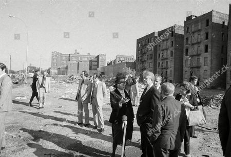 Carter Harris Beame President Jimmy Carter listens as Secretary of Housing and Urban Development Patricia Harris discusses conditions in the blighted South Bronx section of New York, . New York Mayor Abe Beame has his back to camera