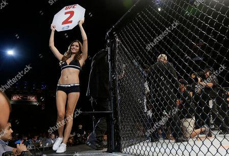Vanessa Hanson UFC Octagon girl Vanessa Hanson during a UFC 177 mixed martial arts event in Sacramento