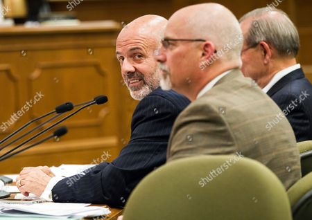 Stock Photo of Joe DiPietro University of Tennessee President Joe DiPietro, left, attends a Senate Higher Education Subcommittee hearing in Nashville, Tenn., . Lawmakers asked University of Tennessee leaders to explain diversity programs after the system's flagship Knoxville campus removed references to the use of gender-neutral pronouns such as from a school website