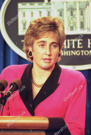 Myers White House Press Secretary Dee Dee Myers speaks to reporters at a White House briefing in Washington, D.C., . Myers responds to charges from aides of ousted Haitian President Jean-Bertrand Aristide that the Clinton Administration is adding supporters of Haiti's military chieftains to Haiti's new government in an effort to break the political impasse there
