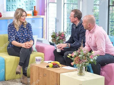 Morgana Robinson with Tim Lovejoy and Simon Rimmer